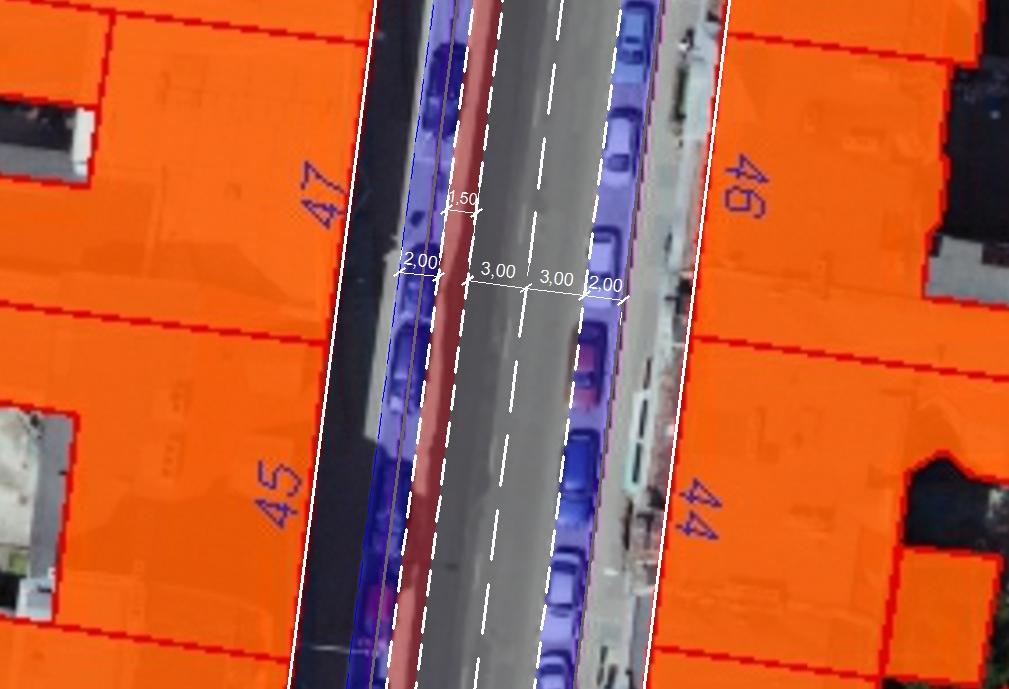 Propozycja wydzielenia pasa rowerowego w ul. Garbary